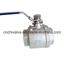 Two Pieces Inside Thread Full Bore Floating Ball Valve with Lock