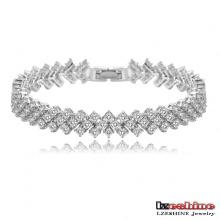 Fashion Women Zircon Couple Bracelets et Bracelets (CBR0008-B)