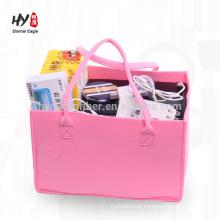 hot sale colorful big capacity felt purse bag