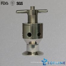 Пробоотборный клапан из санитарно-гигиенической нержавеющей стали с зажимами