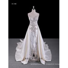 2017 neue Design Hochzeitskleid nach Maß Guangzhou Fabrik Brautkleid