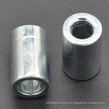 Tuerca larga redonda con zinc plateado (CZ445)