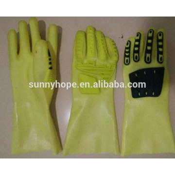 SunnyHope Revestimento de PVC resistente a óleo TPR Impacto Luvas
