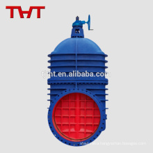 Big size cheap gate valve dn900 500mm with spur gear