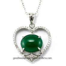 Хорошее качество и чувствительная стерлингового серебра 925 CZ камни сердце кулон Оптовая 2015 P4990