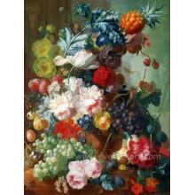Pintura al óleo pintada a mano clásica de la flor del Peony del 100%