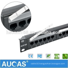 Best Buy Fast Delivery 1u Ethernet Cable Cat6 Patch Panel Wall Mount Cat6 24 Port Patch Panel