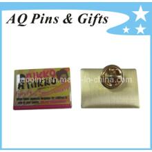 Emblema do Pin do metal do mais baixo custo no Pin deslocado da impressão (badge-009)