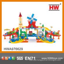 Novo design colorido brinquedo eletrônico conjunto de trem para crianças