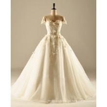 Weg von der Schulter ein Linie Hochzeits-Kleid