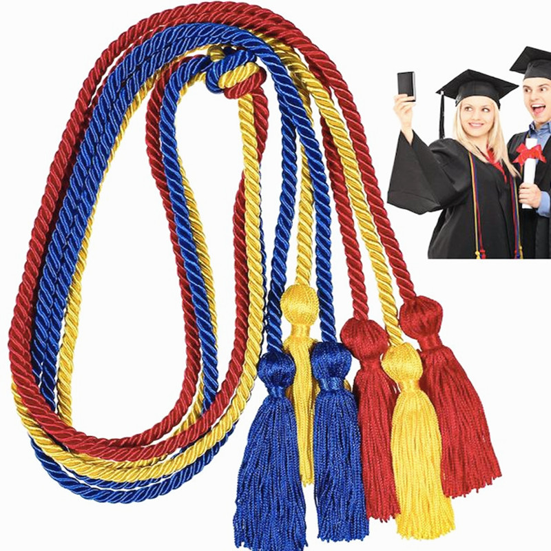 China manufacturers direct sales high quality wholesale cheap customized 67inch polyester graduation tassel cord