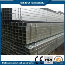 Tuyau en acier galvanisé rectangulaire / carré / rond