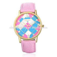 2016 Nueva vanguardia moda reloj de pulsera de cuero colorido para las mujeres SOXY006