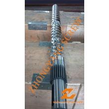 Barril de un solo tornillo de extrusión de película plana de PP PE