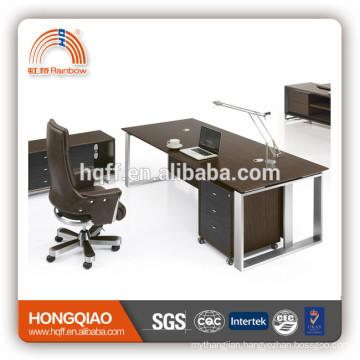 beige and white office desk high glossy spray paint reception desk maple office desk