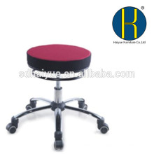 HY1024 Hidráulico Ajustável Tamborete Facial Salon Massagem Spa Dental Cadeira de Rolamento Giratório