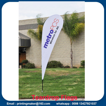 Ukuran Medium Printed Teardrop Flags Spanduk