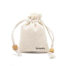 Custom Size multicolor burlap jewelry pouch small jute rope jewelry gift bag for jewelry