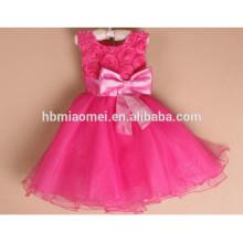 2017 bunte Mädchen Party Kleid ein PC Party tragen 3 Jahre alten Mädchen Kleid mit Fliege für Hochzeit