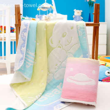 Blanket Throw For Kids Couverture de bébé en coton