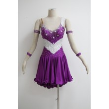 Purple latin dance dress