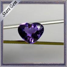 Forma especial del corazón de Exqusite Hermosa amatista natural púrpura