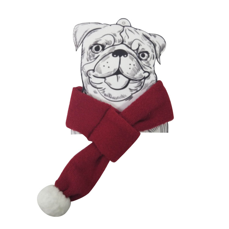 Christmas pet knit scarf red B