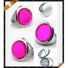 Розовое розовое зеркало с бриллиантом, серебряное зеркало (MW010)