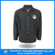 2016 China Manufacture High Quality Fleece Black Jacket