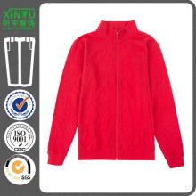 2016 Red Pullover Cheap Fleece Zip up Hoodies Wholesale
