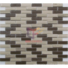 Wooden Pattern Marble with Crystal Mosaic (CFS659)
