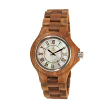 Hlw085 OEM Montre en bois de montre en bambou de montre en bois des hommes et des femmes de haute qualité