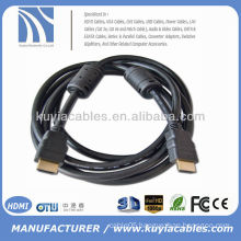 Gold Plated 1.5m Black cable HDMI a hdmi for tv hdtv projector