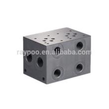 Bloque de válvula de solenoide de bloque de válvula hidráulica de China