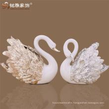 3D hotel lobby polyresin swan animal cygnus sculpture