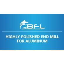 Molino de extremo de flauta de aluminio 3 carburo CNC BFL, sin recubrimiento para corte de aluminio
