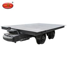 flat traction mining cart for underground mining railway rode
