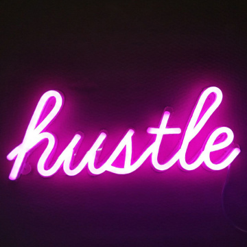 HUSTLE LED नीयन साइन