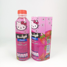 Factory Wholesale Cartoon Desgin Customise PVC Heat Plastic Shrink Sleeve Wrap Label For Milk Drink