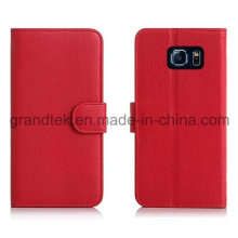 Flip Cover PU Leather Case for Samsung Galaxy S6 Stand Cover