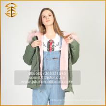 Top-Qualität lange Stil Marke Faux Frauen Jacken Lady Winter Pelz Parka
