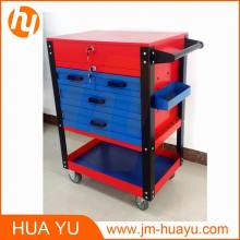 550 Lbs Machine Heavy Duty Rolling Tool Chest with 5 Drawers in Red and Blue