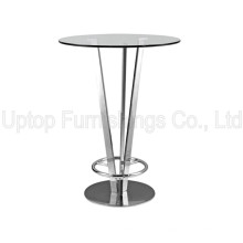 Modern Night Club Glass Top Pied De Table Bistro (SP-BT642)