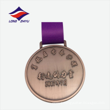High school antique colour nice design custom copper medal