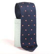 Bordado puntos de lana triángulo flaco personalizado tejer corbata