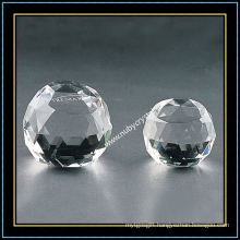 Transparent Faceted Blank Crystal Ball