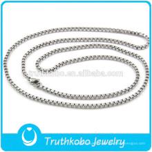 TKB-JN0090 Argent pur de haute qualité 316L exquis avec chaîne et collier en acier inoxydable