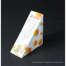 Boîte d'emballage de sandwich de papier de catégorie comestible à vendre