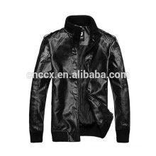 15PKPU03 2016-17 New winter fashion men's winter coating pu leather jacket