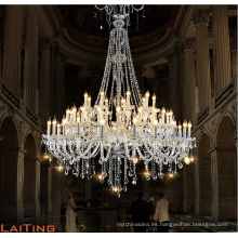 Modern Luxury Large Big Hotel Lobby Candle Chandeliers LED Glass Pendant Light para Interior
